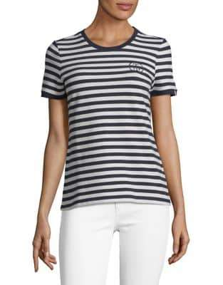Tommy Hilfiger Boulevard Striped Pique Stretch-Cotton Tee