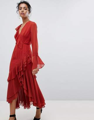 C/Meo Collective Ruffle Wrap Dress