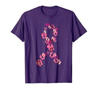 Cute Footprints Breast Cancer Awareness Month T-shirt