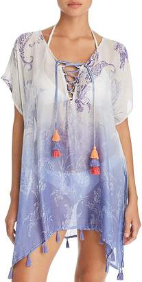 Surf.Gypsy Ombré Paisley Print Tunic Swim Cover-Up