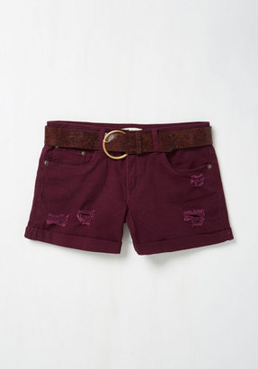 Dollhouse Canoes Flash Shorts in Beet $44.99 thestylecure.com