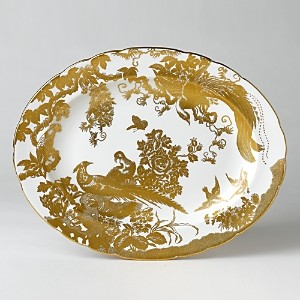 Royal Crown Derby Gold Aves Oval Platter, 13