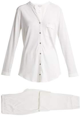 Hanro Pure Essence Cotton Pyjama Set - Womens - Ivory