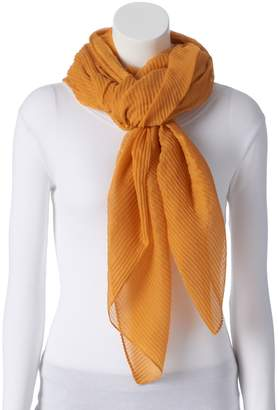 Apt. 9 Women's Solid Pleated Square Scarf