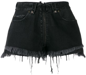 Unravel Project ripped denim shorts