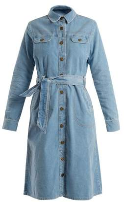 MiH Jeans Newton waist-tie cotton-corduroy dress