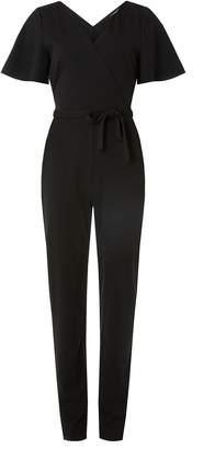 Dorothy Perkins Womens **Tall Black Angel Sleeve Jumpsuit