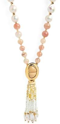Lizzie Fortunato High Falls Freshwater Pearl Tassel Necklace