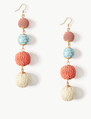 Marks and Spencer Beaded Ball Drop Earrings
