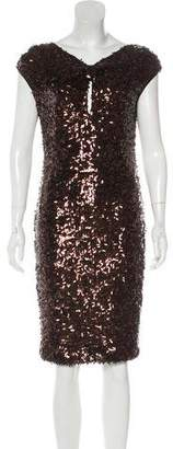 Couture St. John Sequined Sheath Dress