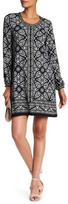 Max Studio Long Sleeve Shift Dress