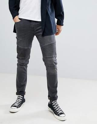Blend of America Jet Distressed Biker Jeans