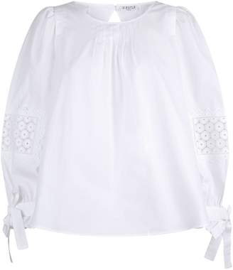 Claudie Pierlot Broderie Anglaise Elbow Patch Shirt