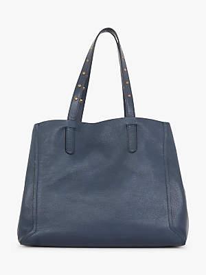 Gerard Darel Simple 2 Leather Tote Bag, Mid Blue