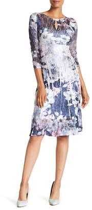 Komarov 3/4 Length Sleeve Keyhole Dress