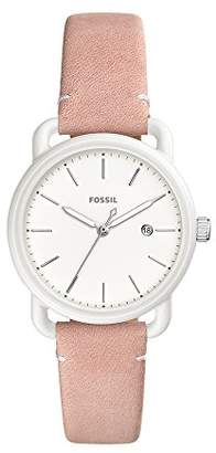 Fossil Women's 'Commuter' Quartz Stainless Steel and Leather Casual Watch