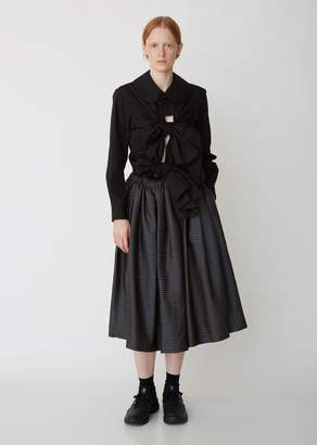 Comme des Garcons Jacquard Pleated Dobby Skirt