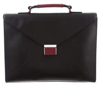 Christian Dior Bicolor Leather Briefcase