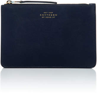 Smythson M'O Exclusive Monogrammable Bond Small Trouvel Pouch