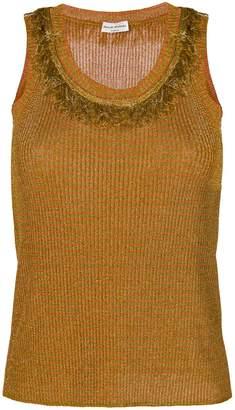 Sonia Rykiel fringe detail ribbed vest top
