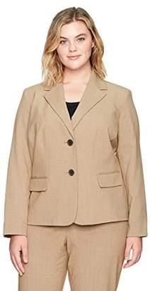 Nine West Women's Plus Size 2 Button Notch Collar Bi Stretch Jacket