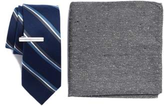 The Tie Bar Short Cut Stripe 3-Piece Skinny Tie Style Box