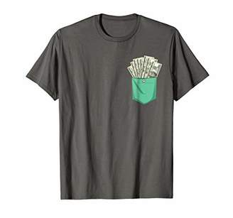 Dollars In Your Fake Pocket Funny T-Shirt