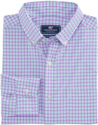 Vineyard Vines Oyster Pond Plaid Slim Performance Murray Shirt