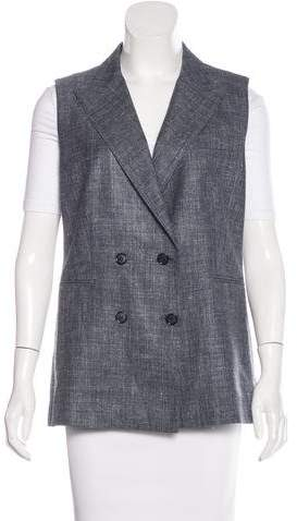 Max Mara MaxMara Notched Double-Breasted Vest