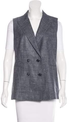 Max MaraMaxMara Notched Double-Breasted Vest