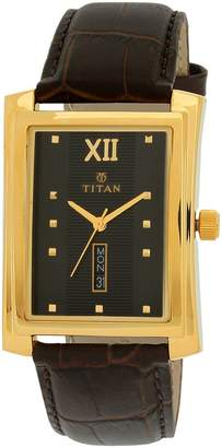 Titan Black Dial Men's Analog Watch - 90023YL02