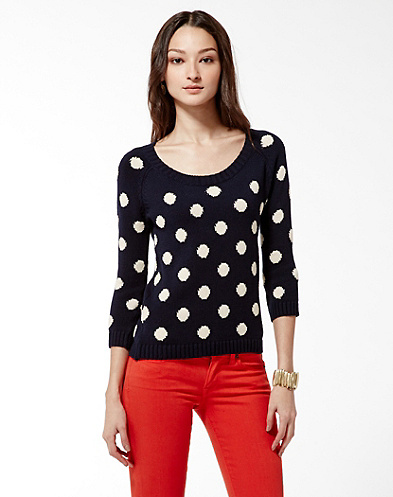 Lucky Brand Polka Dot Sweater