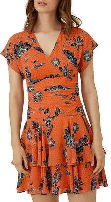 Karen Millen Tiered Floral Mini Dress