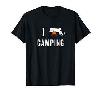 I Love Camping Massachusetts State Camping T-Shirt