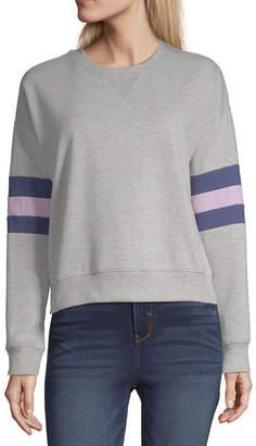 Arizona Womens Round Neck Long Sleeve Sweatshirt Juniors