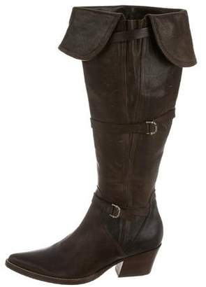 Ermanno Scervino Leather Pointed-Toe Boots