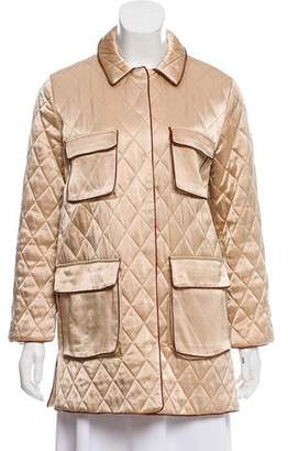Ganni Satin Quilted Jacket