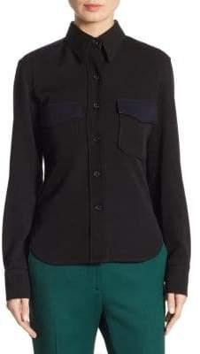 Calvin Klein Wool Button-Down Shirt