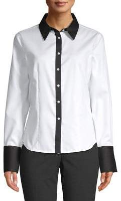 Calvin Klein Oxford Cotton Blouse