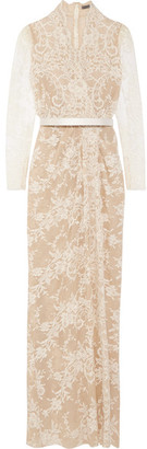 Alexander McQueen - Cotton-blend Lace Gown - Ivory $6,345 thestylecure.com