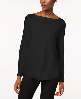Eileen Fisher Organic Cotton Bateau-Neck Top
