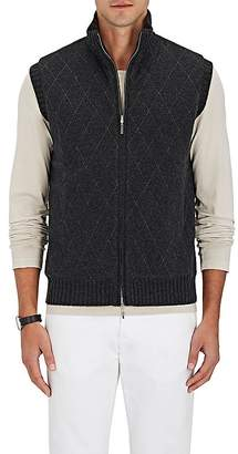 Barneys New York Men's Diamond-Pattern Reversible Cashmere Vest