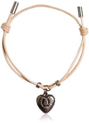 Dolce & Gabbana Waxed Strap & Metal Chain Bracelet