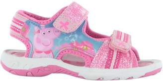 Peppa Pig Girls Glitter Sport Sandal Beach Walking Childrens Shoes UK Size 9