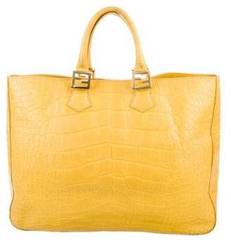 24cf8a356b55 Pre-Owned at TheRealReal · Fendi Crocodile Twins Tote