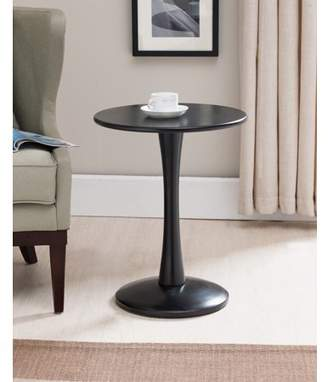 Pilaster Designs Ulva Black Wood Contemporary Occasional Accent Side Sofa Snack Magazine Table