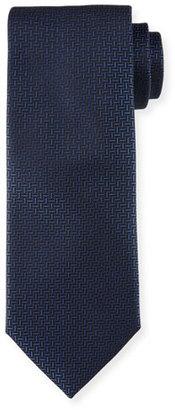 Boss Hugo Boss Geo-Print Silk Tie, Navy $95 thestylecure.com