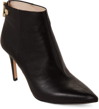 Louise et Cie Black Sonya Leather Ankle Booties