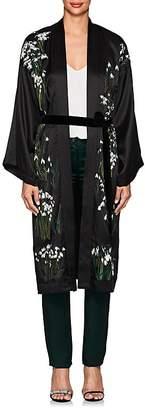 Helena Alice Archer Women's Floral Silk Long Kimono