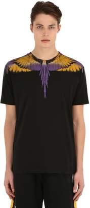 Marcelo Burlon County of Milan Printed Cotton Jersey Wings T-Shirt